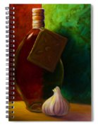 Garlic And Oil Spiral Notebook