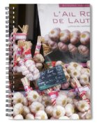 Garlic At A French Market Spiral Notebook