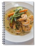 Garlic Prawns Spiral Notebook