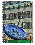 Garment Distric Button Watercolor Spiral Notebook