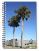 Garrita And Palms At The Fort Spiral Notebook