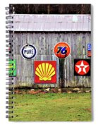 Gas From The Past Spiral Notebook