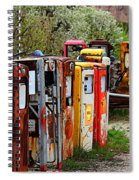 Gas Pump Conga Line In New Mexico Spiral Notebook