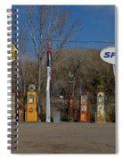 Gas Pumps And Gas Signs Panorama Spiral Notebook