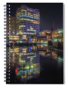 Gas Street Basin At Night Spiral Notebook