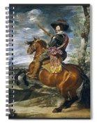 Gaspar De Guzmn Conde-duque De Olivares A Caballo Diego Rodriguez De Silva Y Velazquez Spiral Notebook