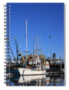 Glassy Harbor Reflection Spiral Notebook