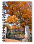 Gate And Driveway 3 Spiral Notebook