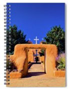 gate of church in Ranchos Spiral Notebook
