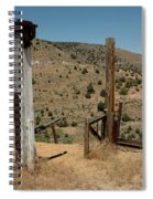 Gate Out Of Virginia City Nv Cemetery Spiral Notebook