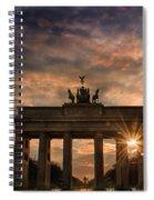 Gate Sunset Spiral Notebook