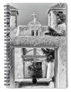 Gate To Ranchos Church Black And White Spiral Notebook