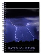 Gates To Heaven Color Poster Spiral Notebook