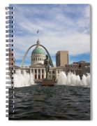 Gateway Arch And Old Courthouse In St. Louis Spiral Notebook