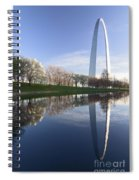 Gateway Arch And Reflection Spiral Notebook
