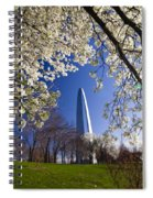 Gateway Arch With Cherry Tree In Bloom. Spiral Notebook