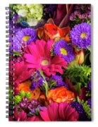 Gathered Garden Flowers Spiral Notebook