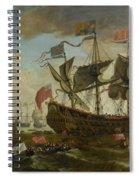 Gathering Of English Ships Spiral Notebook