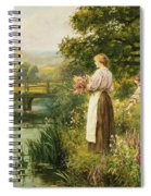 Gathering Spring Flowers Spiral Notebook