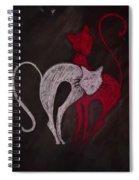 Gato De Rojo Spiral Notebook