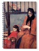 Gaugin: Family, 1889 Spiral Notebook