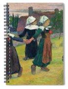 Gauguin, Breton Girls, 1888 Spiral Notebook