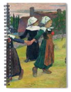 Gauguin, Breton Girls, 1888 Spiral Notebook