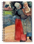 Gauguin: Breton Women, 1894 Spiral Notebook
