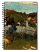 Gauguin: Swineherd, 1888 Spiral Notebook
