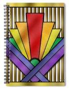 Rainbow Art Deco Spiral Notebook
