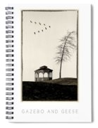 Gazebo And Geese Poster Spiral Notebook
