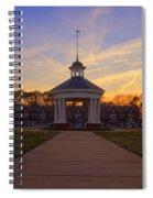 Gazebo At Sunset Spiral Notebook