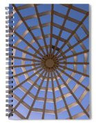 Gazebo Blue Sky Abstract Spiral Notebook
