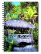 Gazebo In Paradise Spiral Notebook