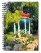 Gazebo In The Nikitsky Botanical Garden Spiral Notebook