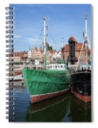 Gdansk Old Town Skyline From The Harbour Spiral Notebook