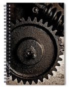 Gear And Screw Sepia 2 Spiral Notebook