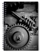 Gear In Monochrome Spiral Notebook