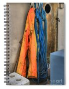 Gear On The Salmon Boat Spiral Notebook