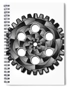 Gearwheel In Black And White Spiral Notebook