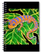 Gecko Hanging On Spiral Notebook