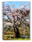 Geese Under Flowering Tree Spiral Notebook