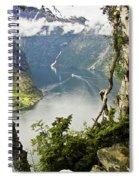 Geiranger Fjord Spiral Notebook