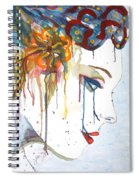 Geisha Soul Watercolor Painting Spiral Notebook