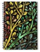 Gemstone Tree With Golden Decor Spiral Notebook