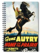 Gene Autry In Home On The Prairie 1939 Spiral Notebook