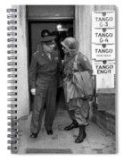 General Eisenhower And General Ridgway  Spiral Notebook