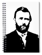 General Grant Black And White  Spiral Notebook