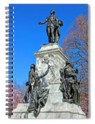 General Lafayette Memorial In Lafayette Square Spiral Notebook