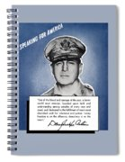 General Macarthur Speaking For America Spiral Notebook